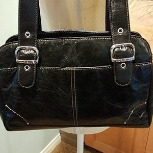 *Black Leather Shoulder Bag